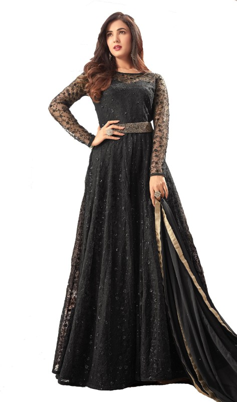 Fabvilla Net Embroidered Semi-stitched Salwar Suit Dupatta Material