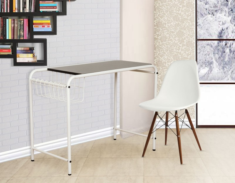 FurnitureKraft Siem Reap Metal Study Table(Finish Color - White)
