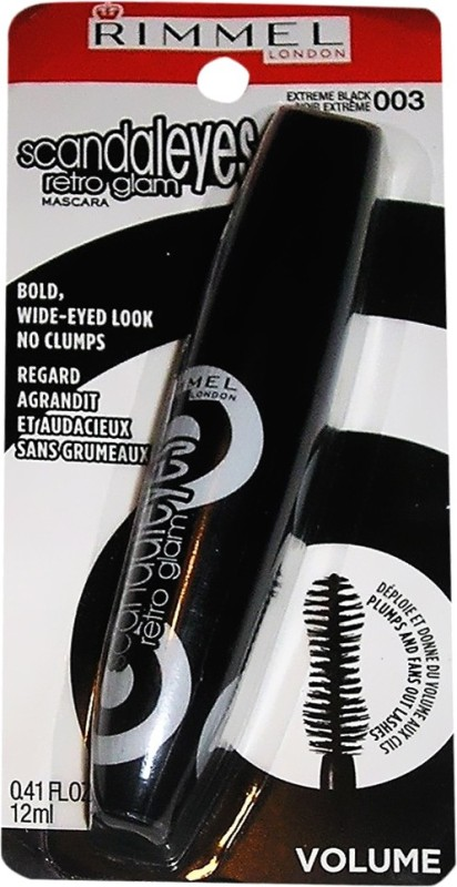 Rimmel London Scandaleyes Retro Glam 12 ml(003 Extreme Black)