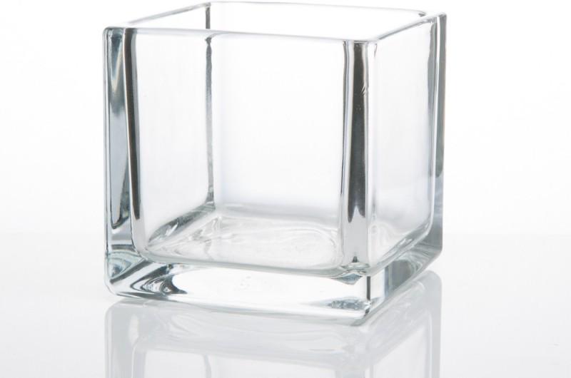 Fourwalls Glass Vase(10 inch, Clear)