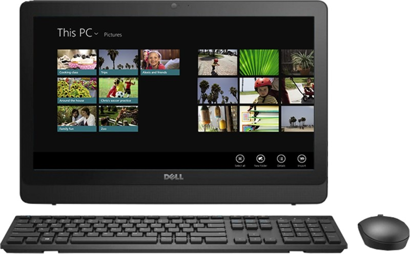 Dell - (Core i3 (7th Gen)/4 GB DDR4/1 TB/Windows 10 Home)(Black, 317.64 mm x 480.52 mm x 56.7 mm, 19.5 Inch Screen)