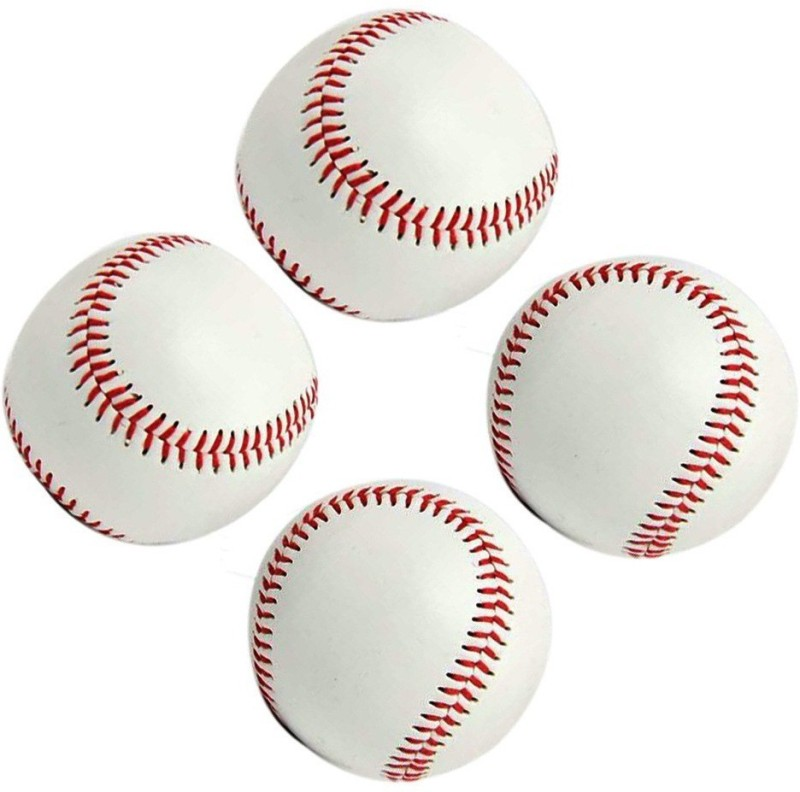 Xerobic Leather Covered Soft Balls for Team Game Competition Baseball(Pack of 4, White)