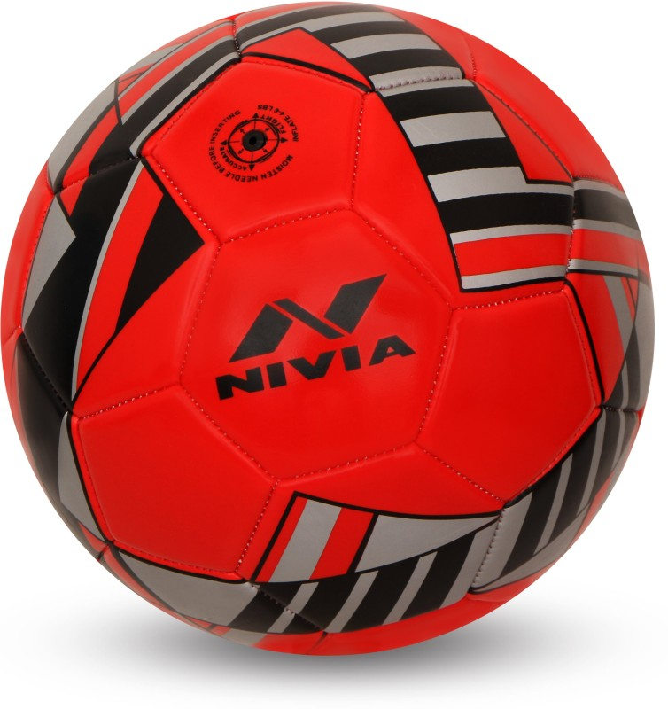 Nivia Blade Machine Stitched Football Football - Size: 3(Pack of 1, Red)