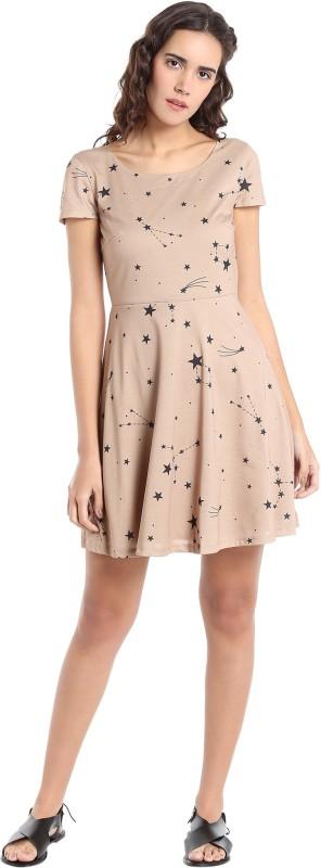 Vero Moda Womens A-line Beige Dress