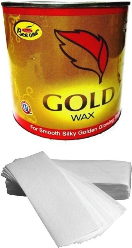 GoodsBazaar Beeone Gold Wax with 50 Waxing Strips (600 gm) Wax(600 g)