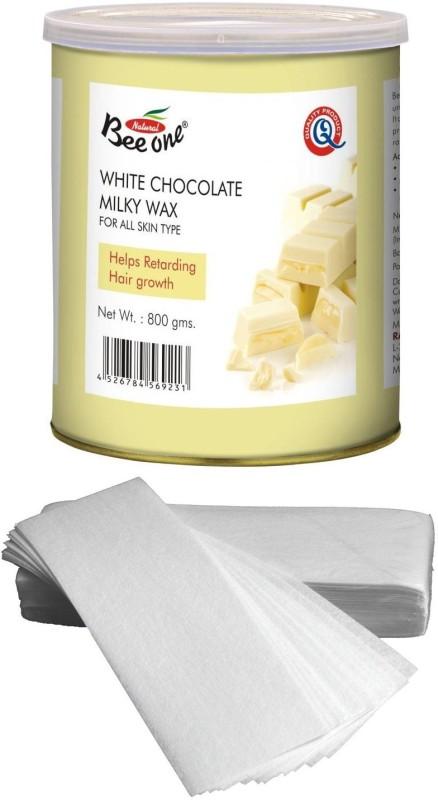 GoodsBazaar Beeone White Choclate Milky Wax with 90 Waxing Strips (800 gm) Wax(800 g)