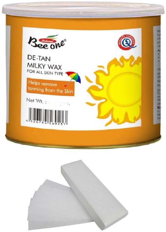 GoodsBazaar Beeone De-Tan Milky Wax with 50 Waxing Strips (440 gm) Wax(440 g)