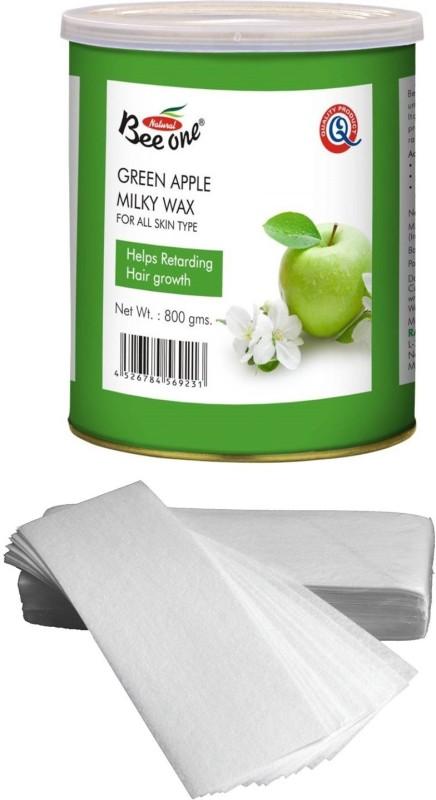 GoodsBazaar Beeone Green Apple Milky Wax with 90 Waxing Strips (800 gm) Wax(800 g)