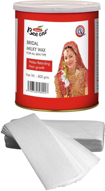 GoodsBazaar Beeone Bridal Milky Wax with 50 Waxing Strips (440 gm) Wax(440 g)