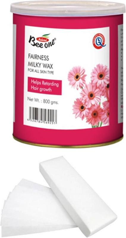 GoodsBazaar Beeone Fairness Milky Wax with 50 Waxing Strips (440 gm) Wax(440 g)
