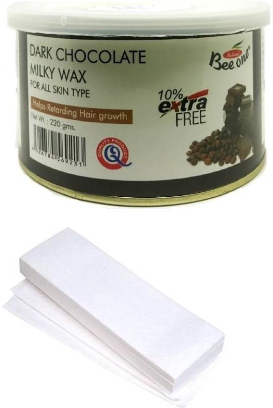 GoodsBazaar Beeone Dark Chocolate Milky Wax with 50 Waxing Strips (440 gm) Wax(440 g)