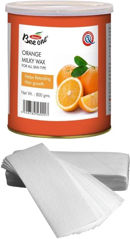 GoodsBazaar Beeone Orange Milky Wax with 50 Waxing Strips (440 gm) Wax(440 g)