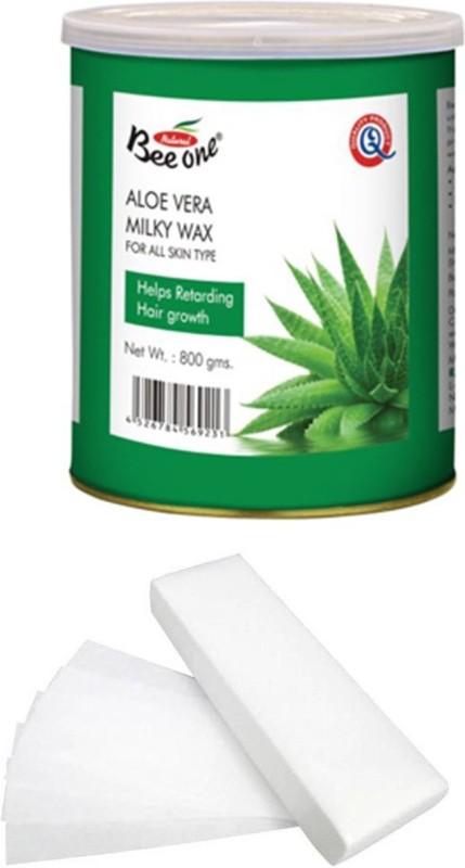 GoodsBazaar Beeone Aloe Vera Milky Wax with 90 Waxing Strips (800 gm) Wax(800 g)