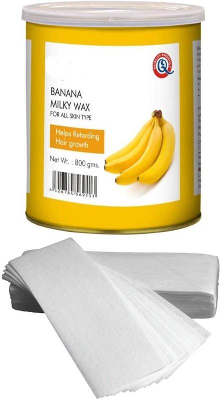 GoodsBazaar Beeone Banana Milky Wax with 50 Waxing Strips (440 gm) Wax(440 g)