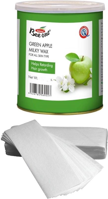 GoodsBazaar Beeone Green Apple Milky Wax with 50 Waxing Strips (440 gm) Wax(440 g)