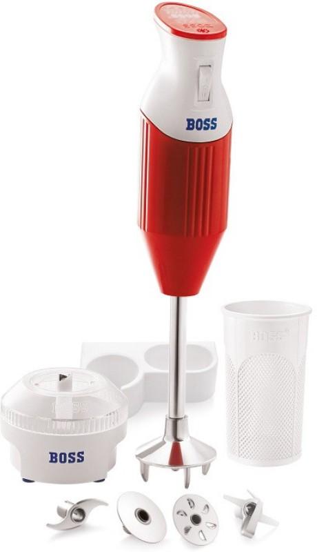 Boss BigBoss Portable Hand Blender Red, 160 W Hand Blender(RED-WHITE)