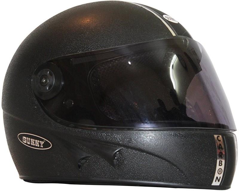 Sunny CARBON Motorbike Helmet(Black, White, Red)
