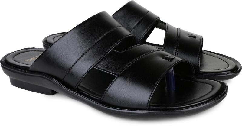 Zyma Men Black Sandals