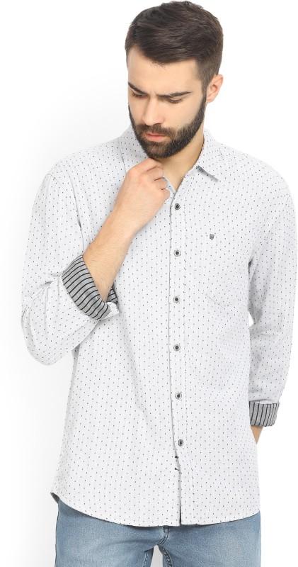 Wrangler Mens Printed Casual Black, White Shirt