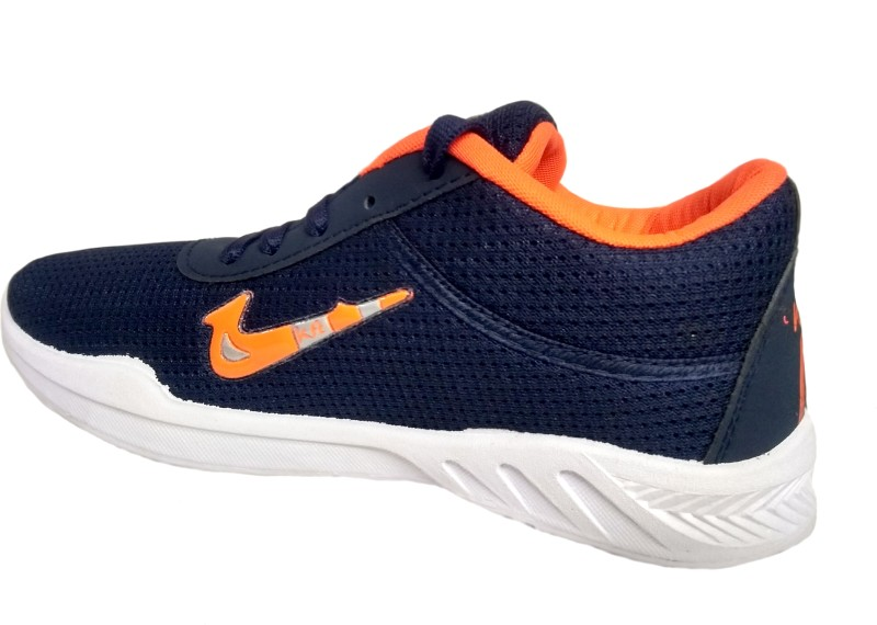 Kraft Men's Sports Shoes Casuals For Men(Navy, Orange)