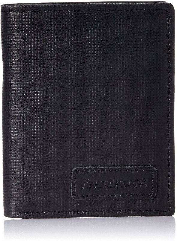 Fastrack Men Black Genuine Leather Wallet(2 Card Slots)