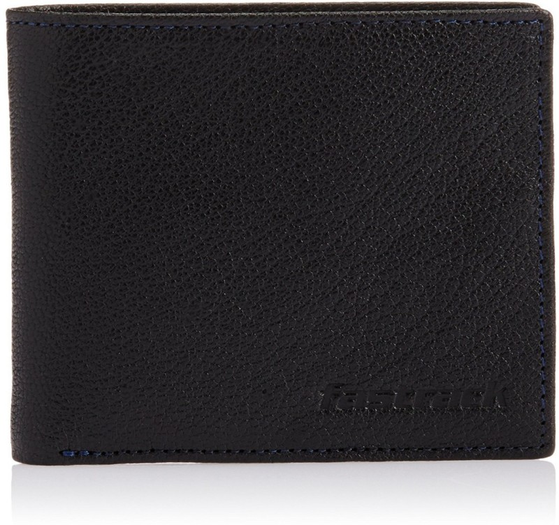 Fastrack Men Black Genuine Leather Wallet(5 Card Slots)