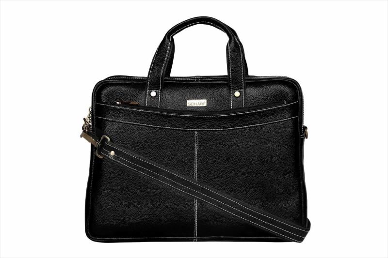 SCHARF Hilton Ted - Truth of Incorportion 15.6 Laptop - Macbook Shoulder Messenger Bag Medium Briefcase - For Men & Women(Black)