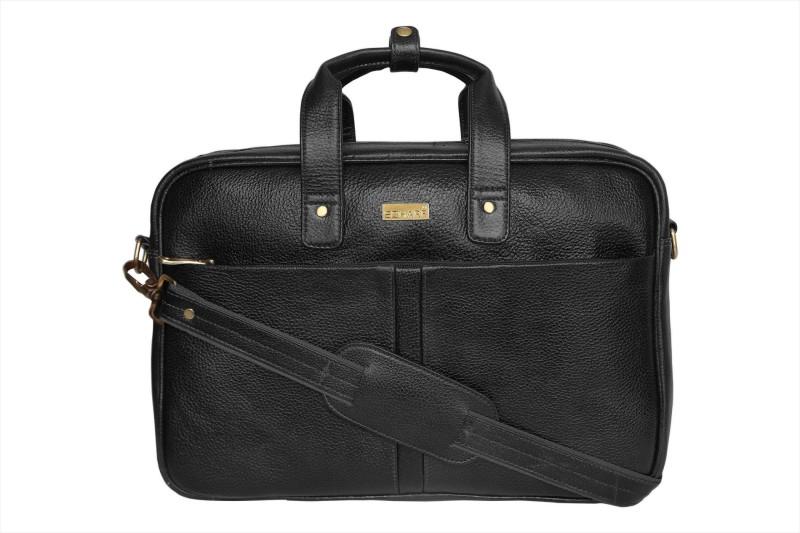 SCHARF Tim Vine - Every Port Of Me 15.6 Laptop - Macbook Shoulder Messenger Bag Medium Briefcase - For Men & Women(Black)