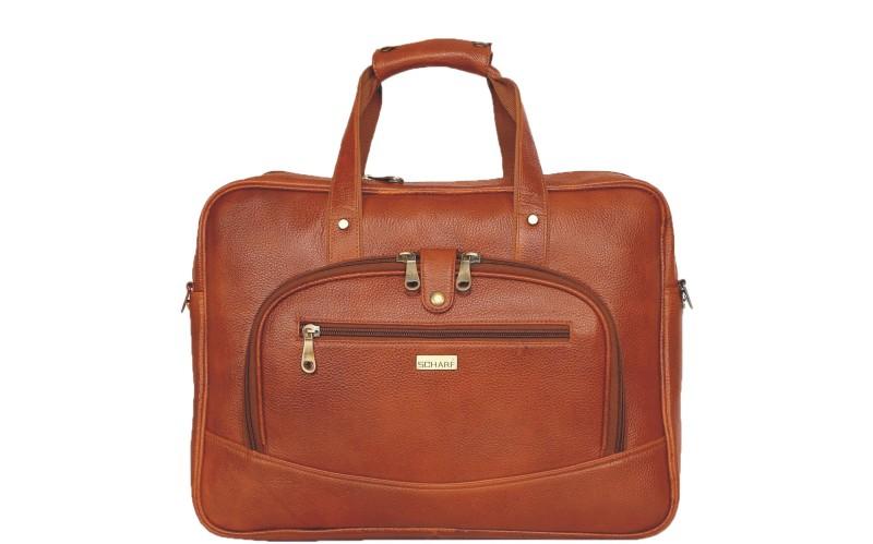 SCHARF Tyler Reece - The Gift Of The Gab 15.6 Laptop - Macbook Shoulder Messenger Bag Medium Briefcase - For Men & Women(Tan)