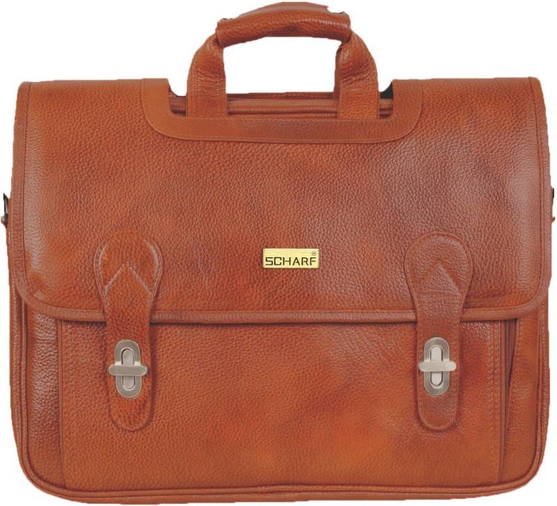 SCHARF Boston Sebastine - Manuscript File 16 Laptop - Macbook Shoulder Messenger Bag Medium Briefcase - For Men & Women(Tan)