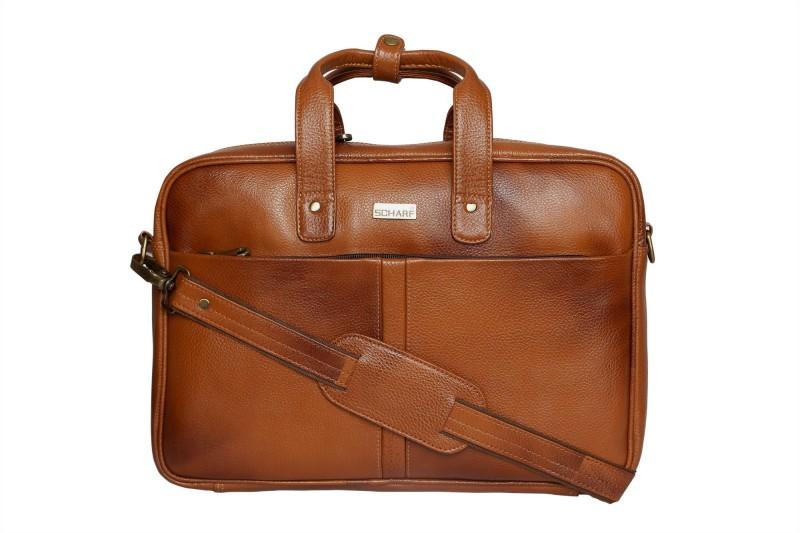 SCHARF RT Medium Briefcase - For Men & Women(Tan)