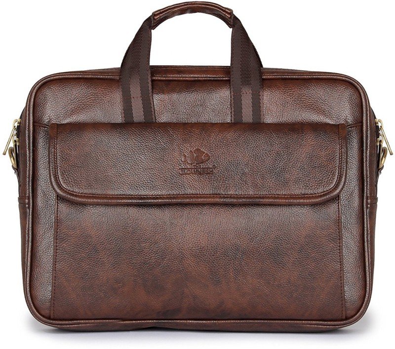 The Clownfish Roga laptop briefcase Medium Briefcase - For Men & Women(Brown)