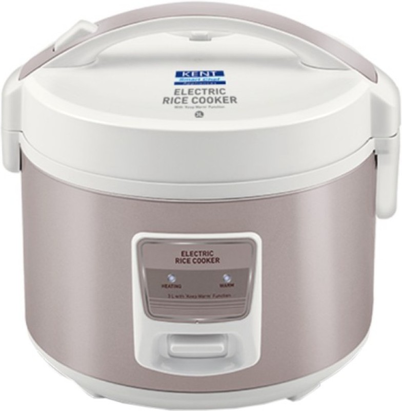Kent 16013 Electric Rice Cooker(3 L, Ivory, Brown)