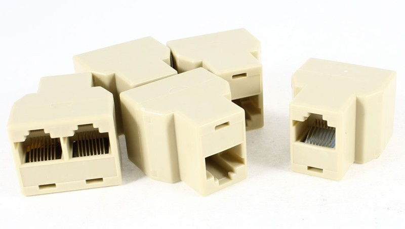 Axel RJ45 H2 Splitter Connector-5Pcs Lan Adapter(0 Mbps)
