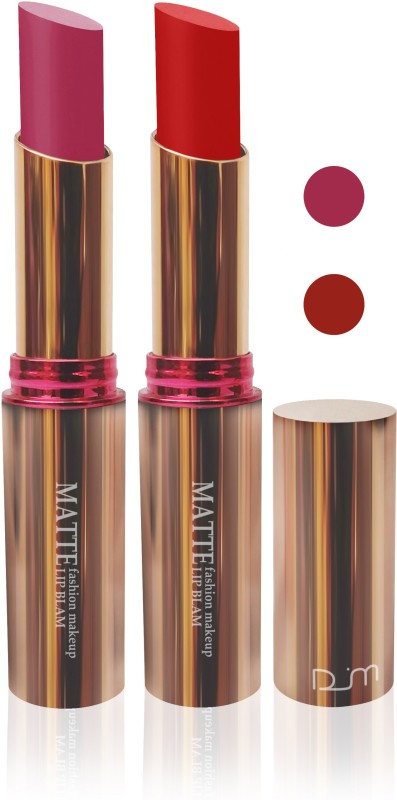 femina09 cosmetics makeup velvet matte Enriched with Vitamin E lipstick purple red fashion collection combo set of 2(purple,red, 10 g)