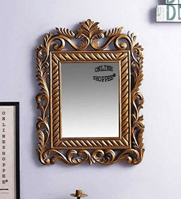 Onlineshoppee AFR3396 Decorative Mirror(Rectangle Finish : Paint)