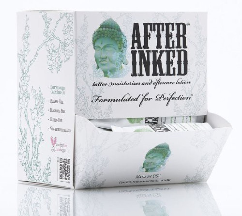 After Inked Tattoo Moisturizer & Aftercare Lotion Pillow Packs Dispensers(7 ml)