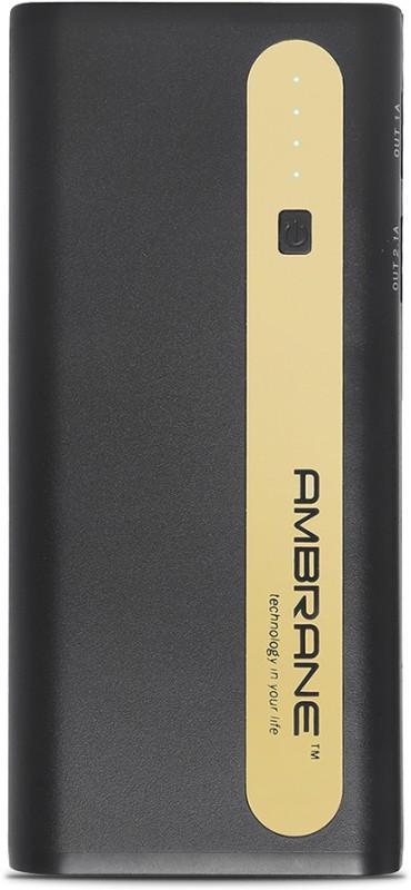Ambrane 13000 mAh Power Bank (P-1310, NA)(Black, Gold, Lithium-ion)