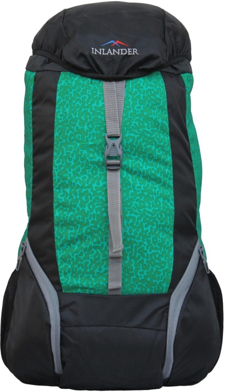 Inlander 1011-1 Hiking Trekking Daypack Backpack Rucksack - 35 L(Green, Black)