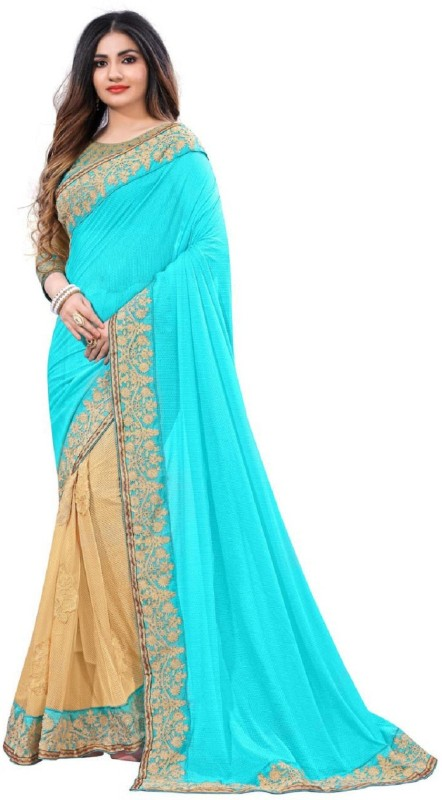 SNH Export Embroidered Bollywood Lycra Saree(Multicolor)
