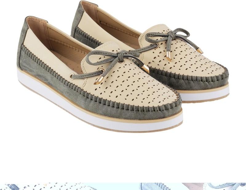 Mochi Trendy Loafers For Women(Beige)