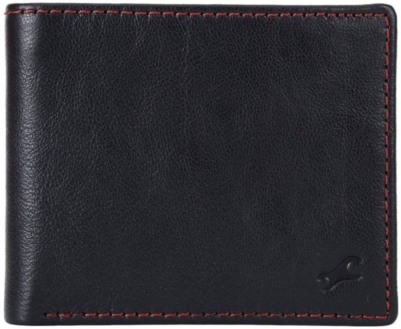 Fastrack Men Black Genuine Leather Wallet(6 Card Slots)