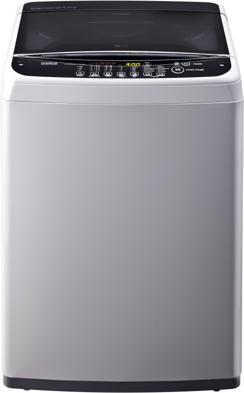 LG 6.5 kg Inverter Fully Automatic Top Load Washing Machine Silver(T7581NDDLG)