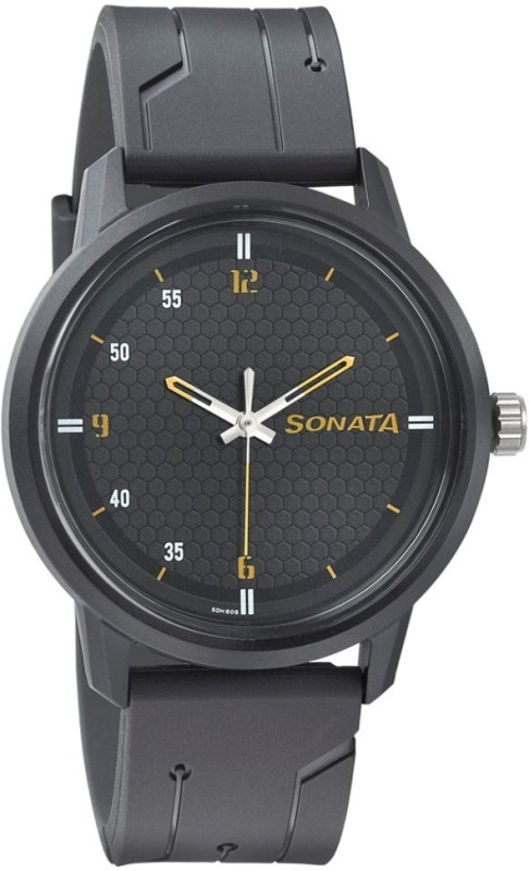 Sonata 77085PP03 Volt Analog Watch - For Men