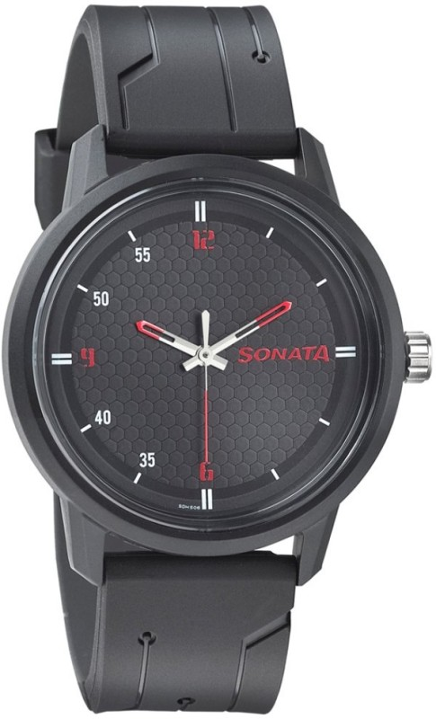 Sonata 77085PP04 Volt Analog Watch - For Men
