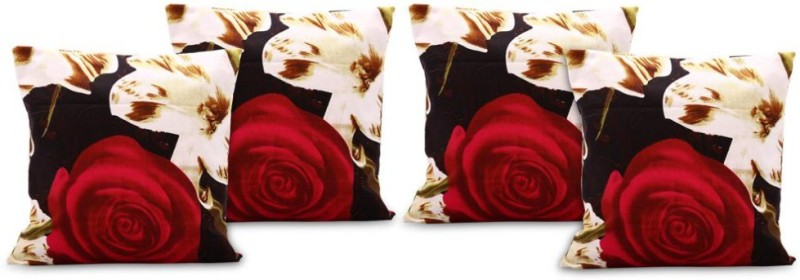 eCraftIndia Floral Cushions Cover(Pack of 4, 40*40, Multicolor)
