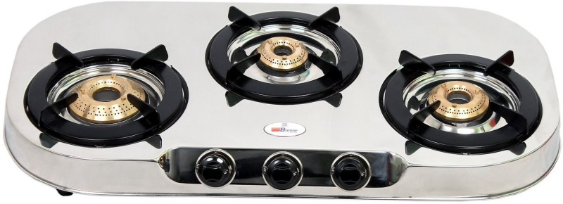 BShine Stainless Steel Manual Gas Stove(3 Burners)
