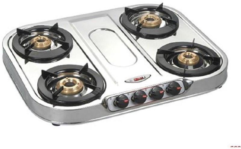 Bshine Accord Stainless Steel Manual Gas Stove(4 Burners)