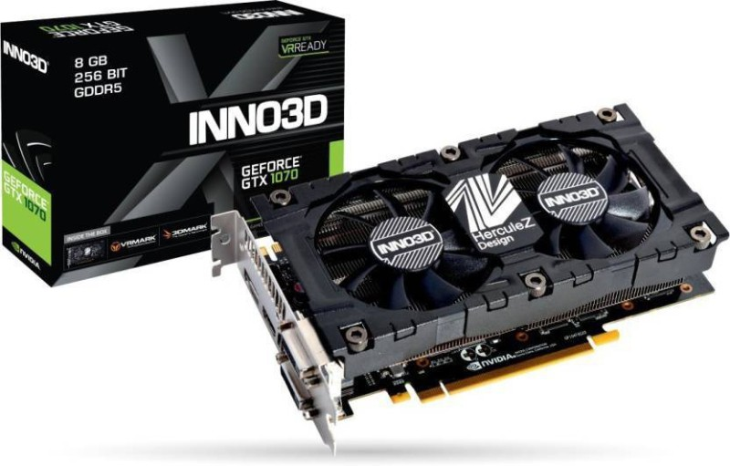 INNO3D NVIDIA GTX 1070 8 GB GDDR5 Graphics Card(Black) image