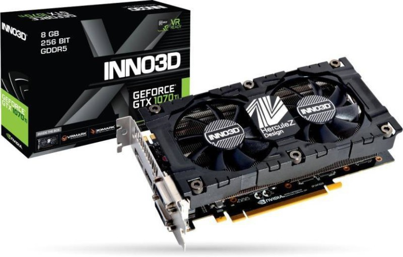 INNO3D NVIDIA GTX 1070 TI X2 V2 4 GB GDDR5 Graphics Card(Black)